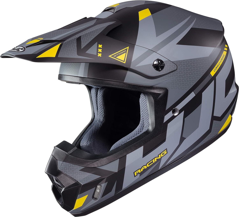HJC Unisex-Adult Off Road CS-MX II Pictor Helmet Hi Viz//Black, X-Small
