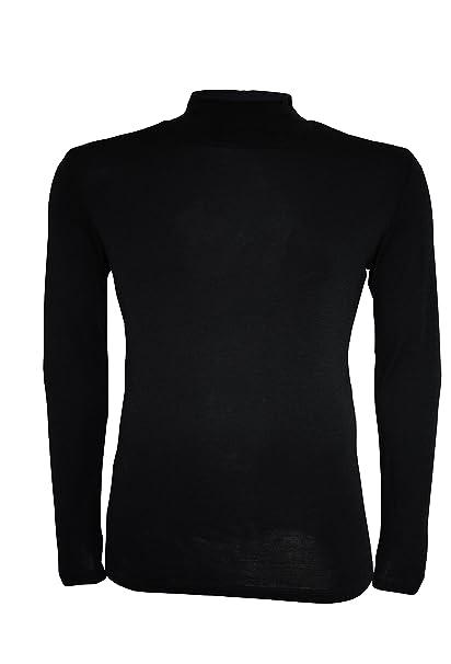 UTENOS - Camiseta térmica - para Hombre Negro Negro Medium