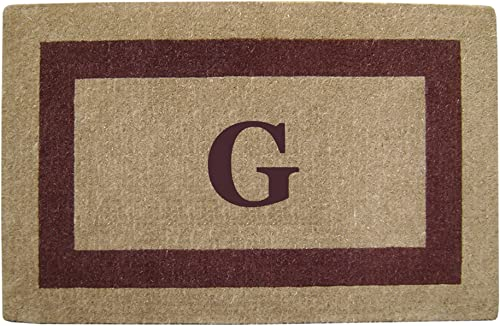 Heavy Duty 30 x 48 Coco Mat Brown Single Picture Frame, Monogrammed G