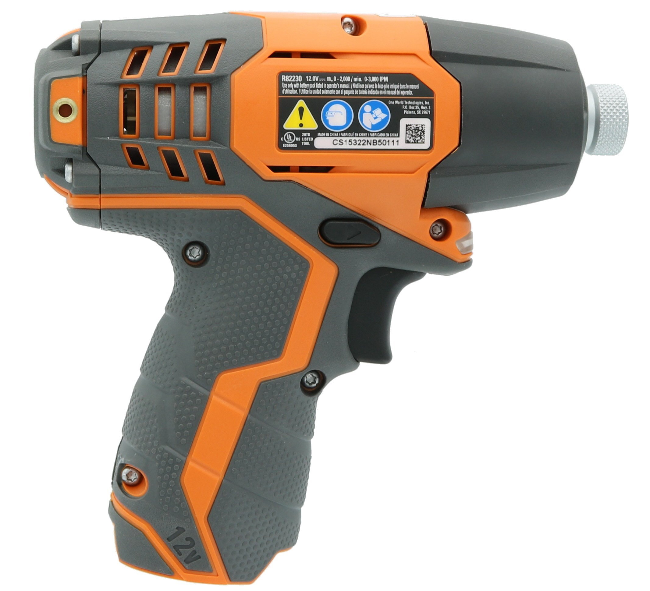 Ridgid R82230N 1/4 Inch 12 Volt Lithium Ion 1,100 In. Lbs. Impact Driver (Battery Not Included, Power Tool Only) (Certified Refurbished) by Ridgid (Image #3)