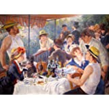 Pierre-Auguste Renoir - Luncheon of the Boating Party, Size 24x32 inch, Poster art print wall décor
