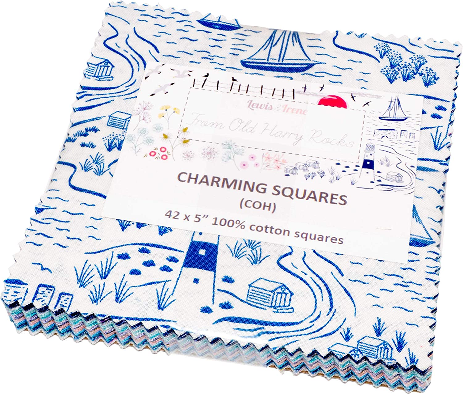 from Old Harry Rocks Charming Squares 42 5-inch Squares Charm Pack Lewis /& Irene