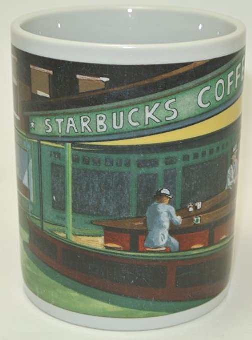 Starbucks mug diner scene Nighthawks Diner D Burrows Designed by Chaleur used
