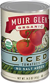 product image for Muir Glen, Organic Diced No Salt Added Tomatoes, 174 Ounce (Pack of 12)
