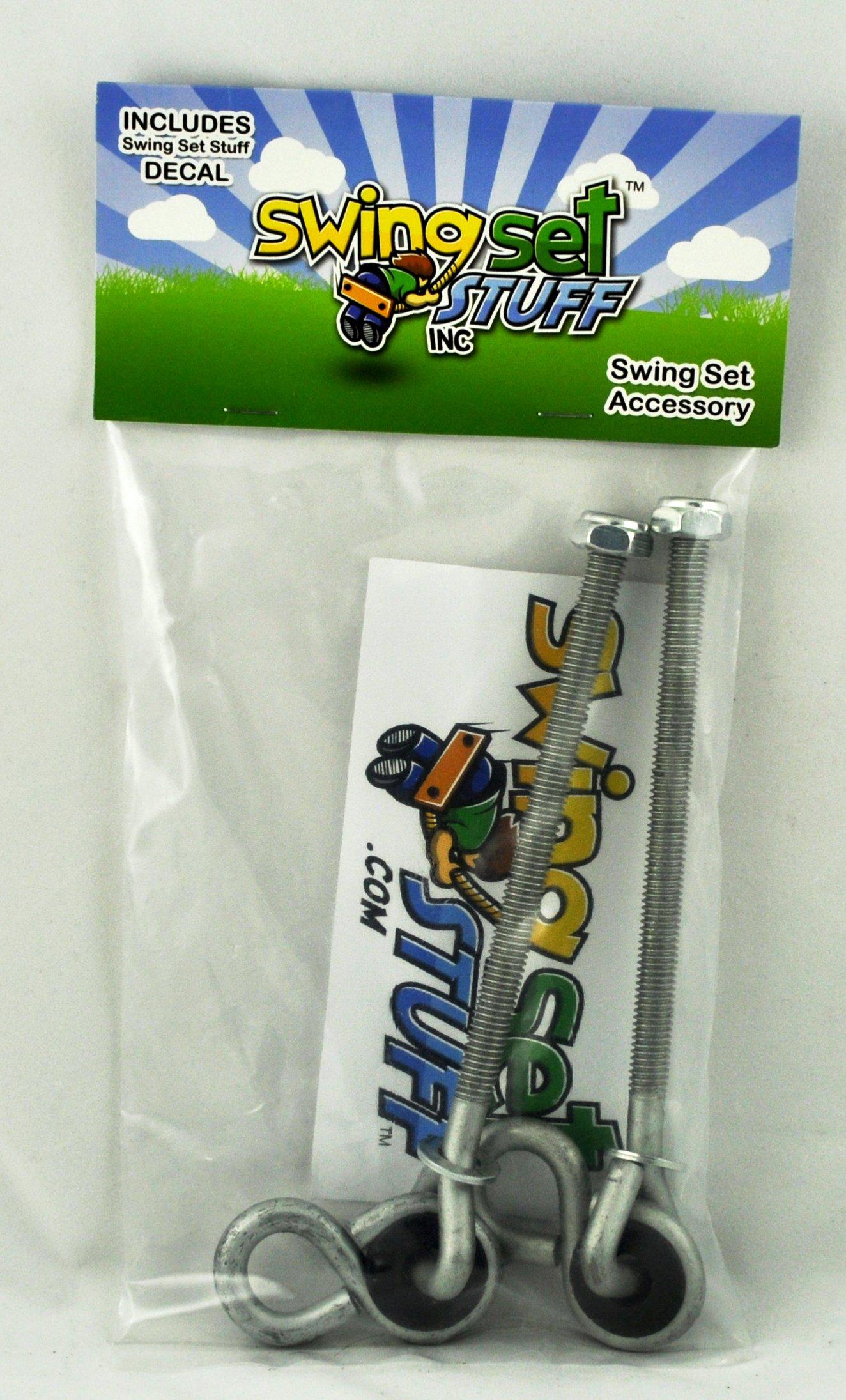 Swing Set Stuff 6'' x 3/8'' Nylon Bushing Swing Hanger (Pair) with SSS Logo Sticker