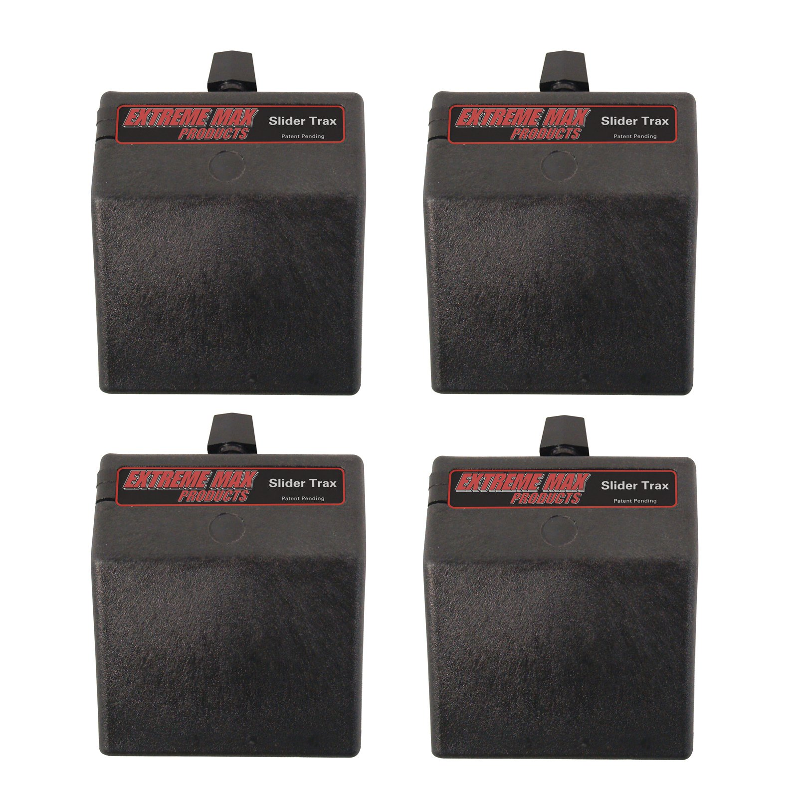 Extreme Max 3004.3100 45° Base for Slider Trax / OEM Marine Accessory Mounting Systems, 4 Pack by Extreme Max