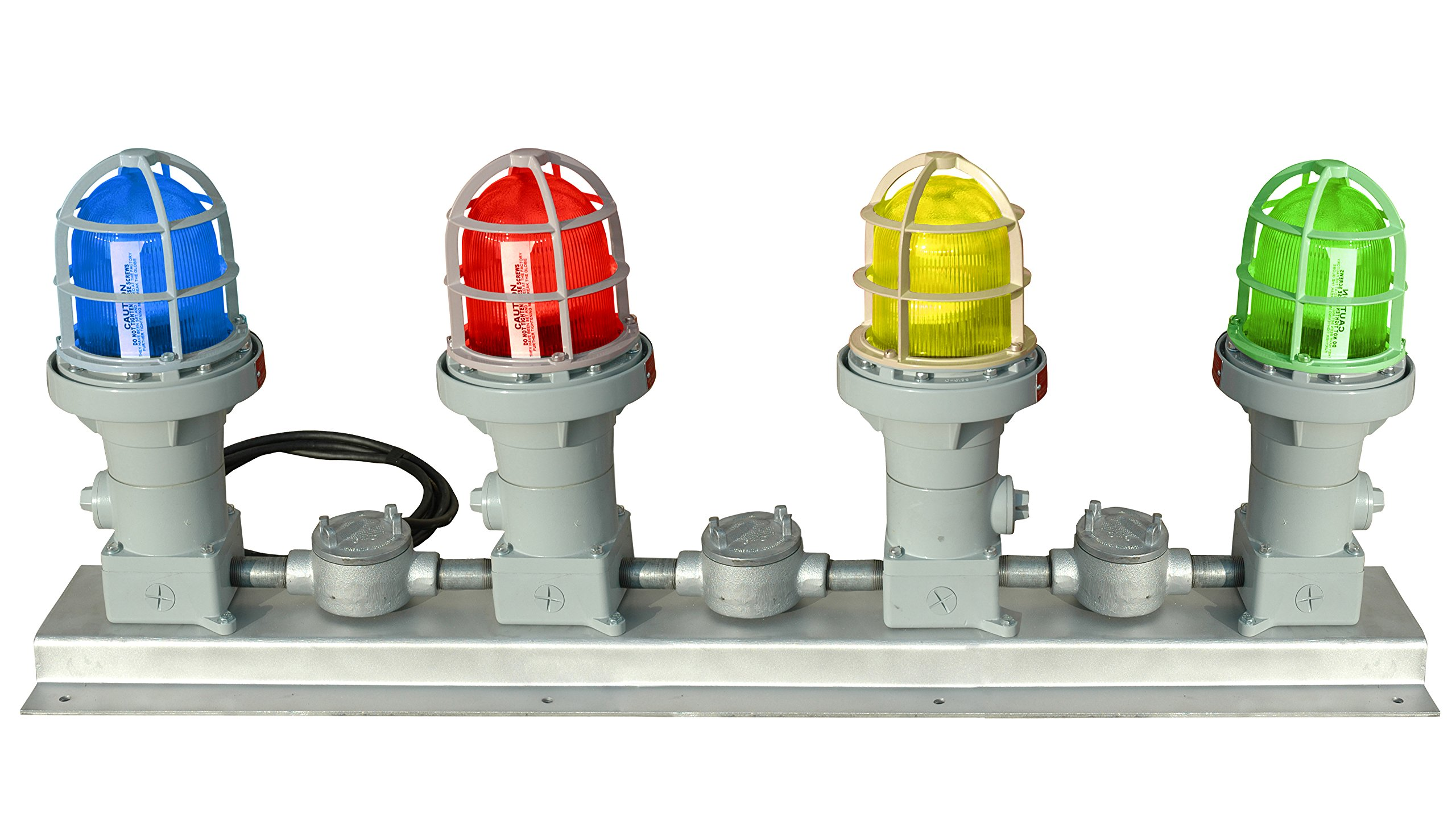 Explosion Proof Traffic Light - Class 1 & Class 2 Signal Stack Light - Colored Lamps