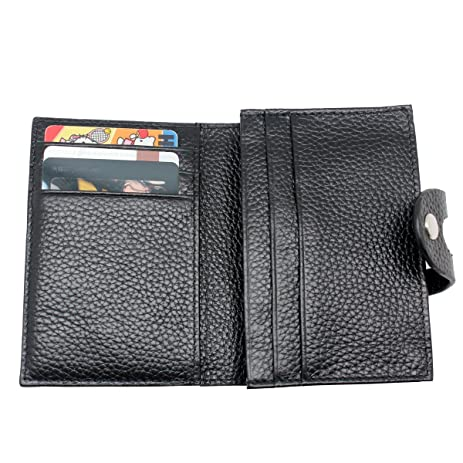 Amazon boshiho rfid blocking secure leather business card boshiho rfid blocking secure leather business card organizer id credit card holder wallet with hasp prevent colourmoves