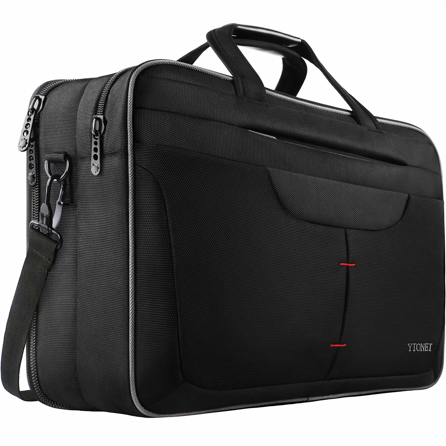 18 Inch Laptop Bag, Extra Large Briefcase for Men Women, Expandable Multifunctional Laptop Case, Water Resistant Computer Bags Fit 18 17.3 Inches Gaming Laptop, Notebook for Business Travel, Black Cafeleo