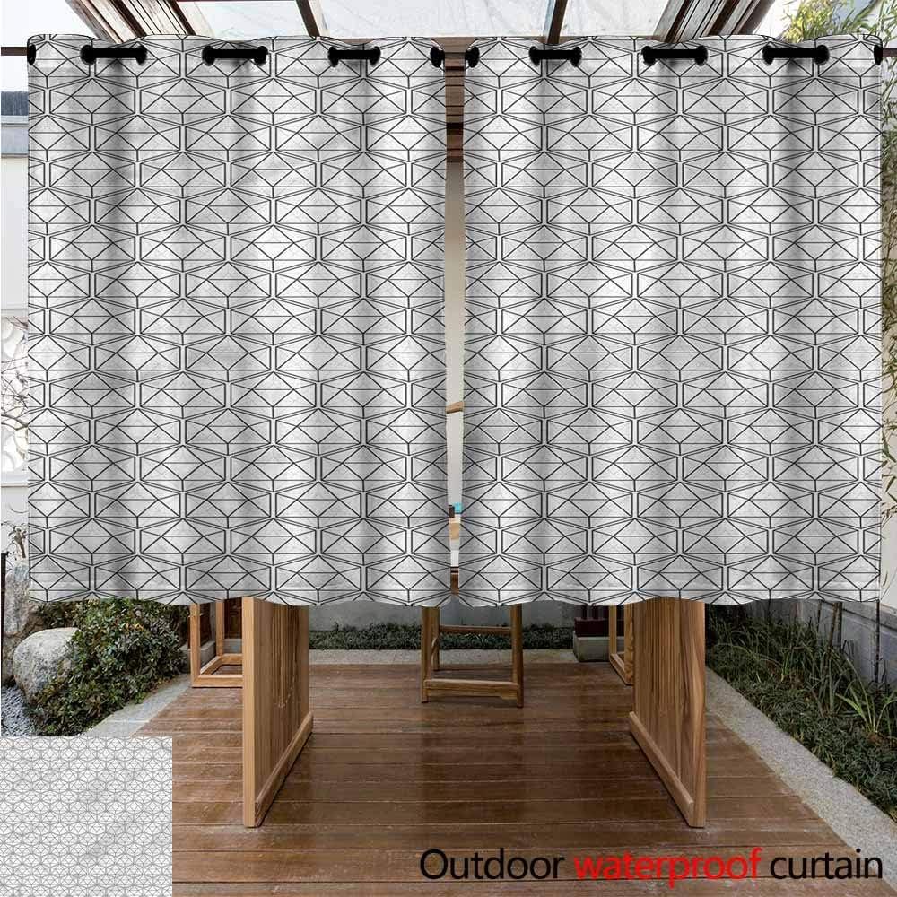 Sunnyhome Cortina de Puerta corredera geométrica Negra, aislada con Ojales para Dormitorio: Amazon.es: Jardín