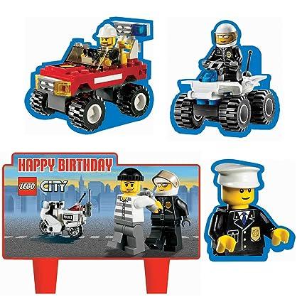LEGO City - Velas para Tarta de cumpleaños (4 Unidades ...
