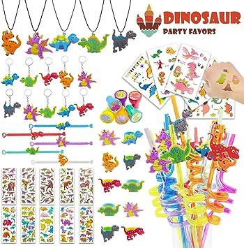 Amazon.com: 56 piezas de dinosaurios para fiestas ...