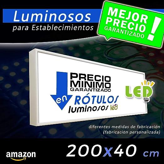 Rótulo Luminoso led 200x40, cajón luminoso para publicidad ...