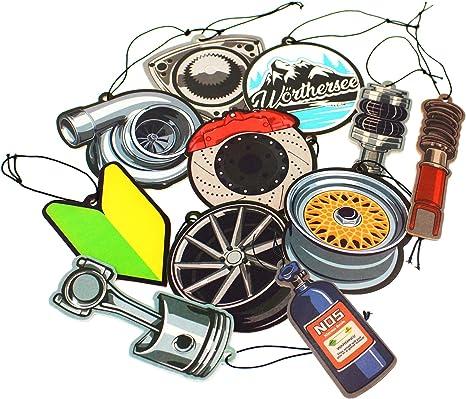 Vmg Store 2er Set Tuning Lufterfrischer Duftbaum Fürs Auto Air Freshener Design Duft Anhänger 2x Kolben Auto