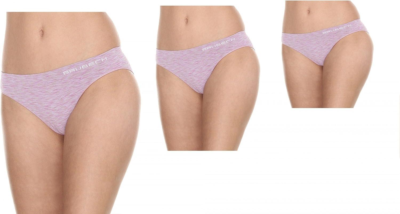 2-Schichtgewebe Brubeck/® BI10080 3X Set Fusion Bikini Slips Damen Funktional Nahtlos Schnell trocknend