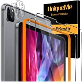 """[2+2 Pack] UniqueMe Screen Protector and Camera Lens Protector for iPad Pro 2020 [ 12.9"""" ] 4th Generation [Alignment Frame] T"""