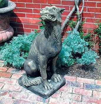Large Garden Sculpture   Evil Gargoyle Stone Statue