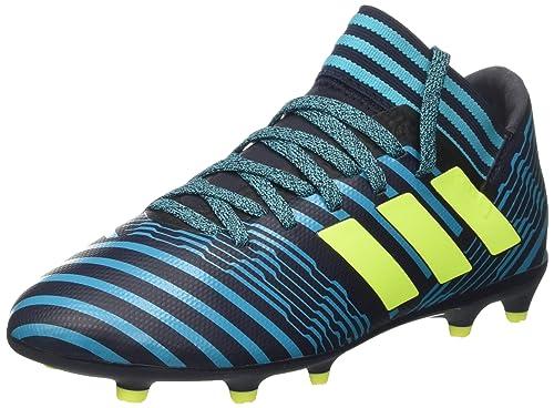 adidas Nemeziz 17.3 FG J, Botas de fútbol Unisex niños, Azul (Tinley/