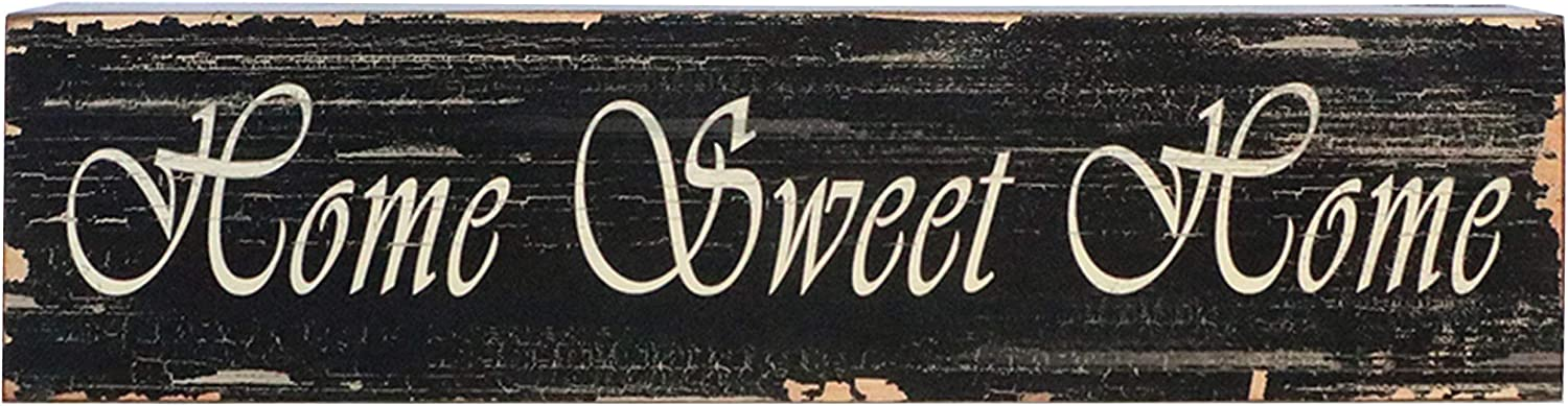 "Barnyard Designs Home Sweet Home Wooden Box Wall Art Sign, Primitive Country Farmhouse Home Decor Sign with Sayings 22"" x 5.5"""
