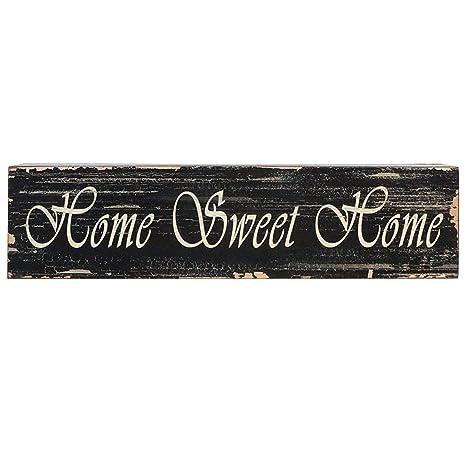 Amazon.com: Home Sweet Home – Caja de madera Arte Signo ...