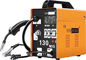 VIVOHOME Portable Flux Core Wire No Gas MIG 130 Welder Machine 110V Yellow