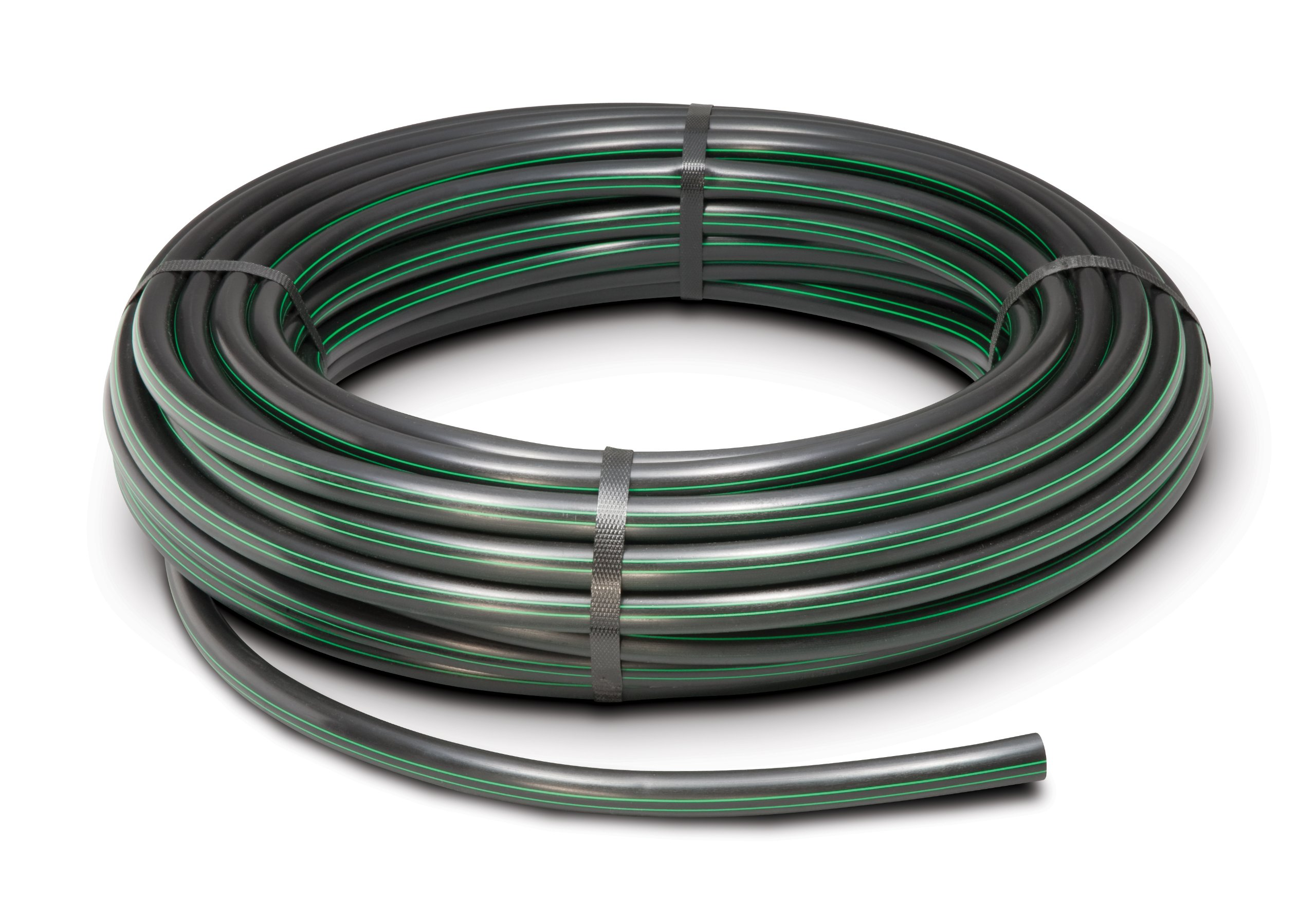 Rain Bird T63-100S Drip Irrigation 1/2'' (.630'' OD) Blank Distribution Tubing, 100' Roll, Black
