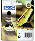 Epson C13T16314012 - Cartucho de tóner adecuado para WF2010, color negro, paquete estándar, XL