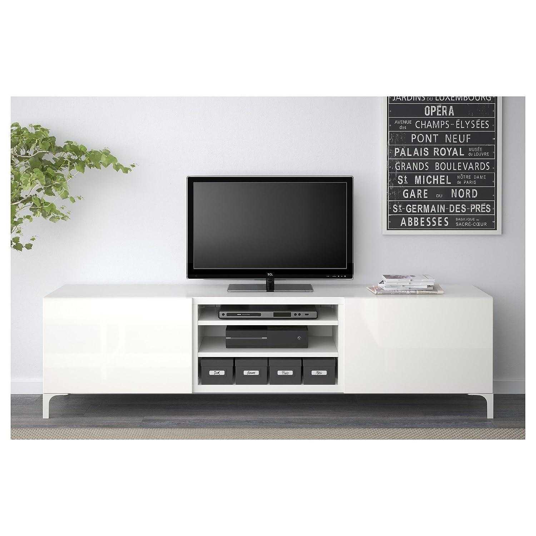 Zigzag Trading Ltd IKEA BESTA - Mueble TV con cajones Blanco/selsviken Alto Brillo/Blanco: Amazon.es: Hogar