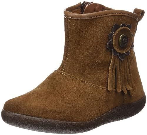 Conguitos Botines Serraje Niña - Botas para niñas, Color marrón, Talla 25: Amazon.es: Zapatos y complementos