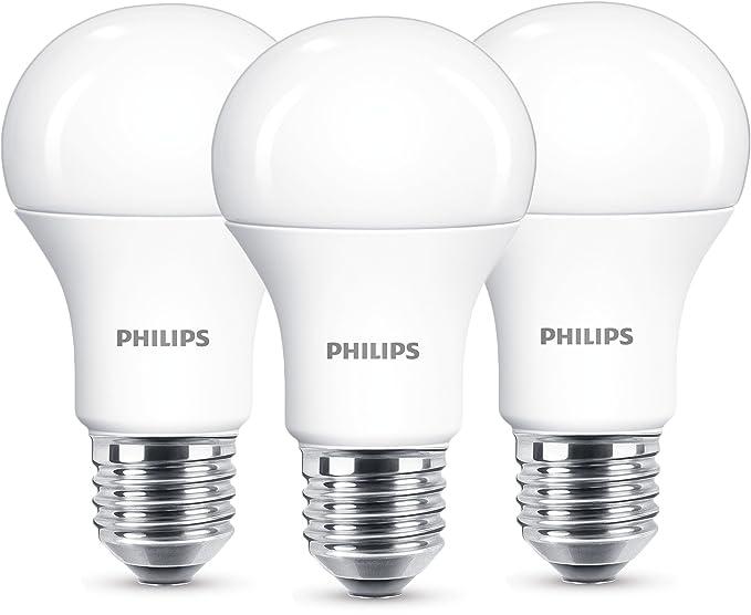 Philips - Bombilla LED de Casquillo Gordo E27 Luz Blanca Cálida 13W