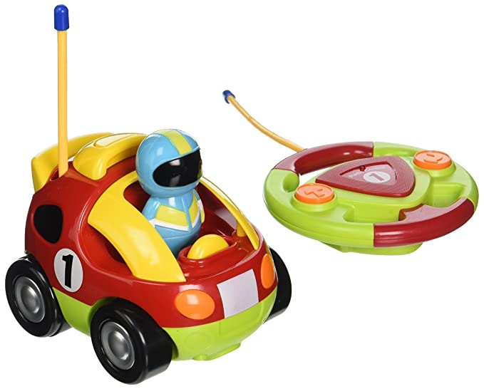 Best Choice Products Kids 2 Channel Beginner Remote Control Cartoon Racing Car $15