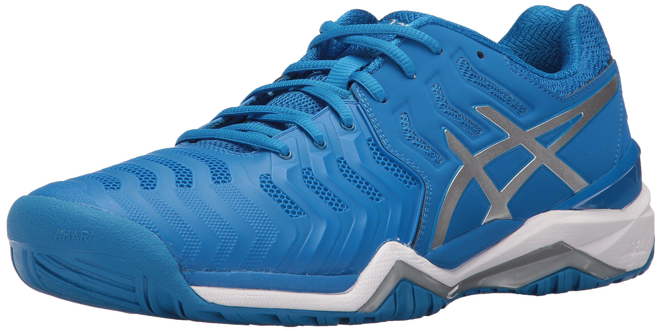 ASICS Mens Gel-Resolution 7 Tennis Shoe Directoire Blue/Silver/White 6 Medium US