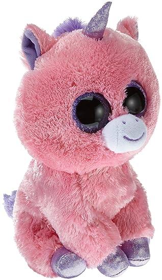 Ty Beanie Boos - Peluche 23 cm - Unicornio Rosa - Peluche Beanie Boos Unicornio Magic