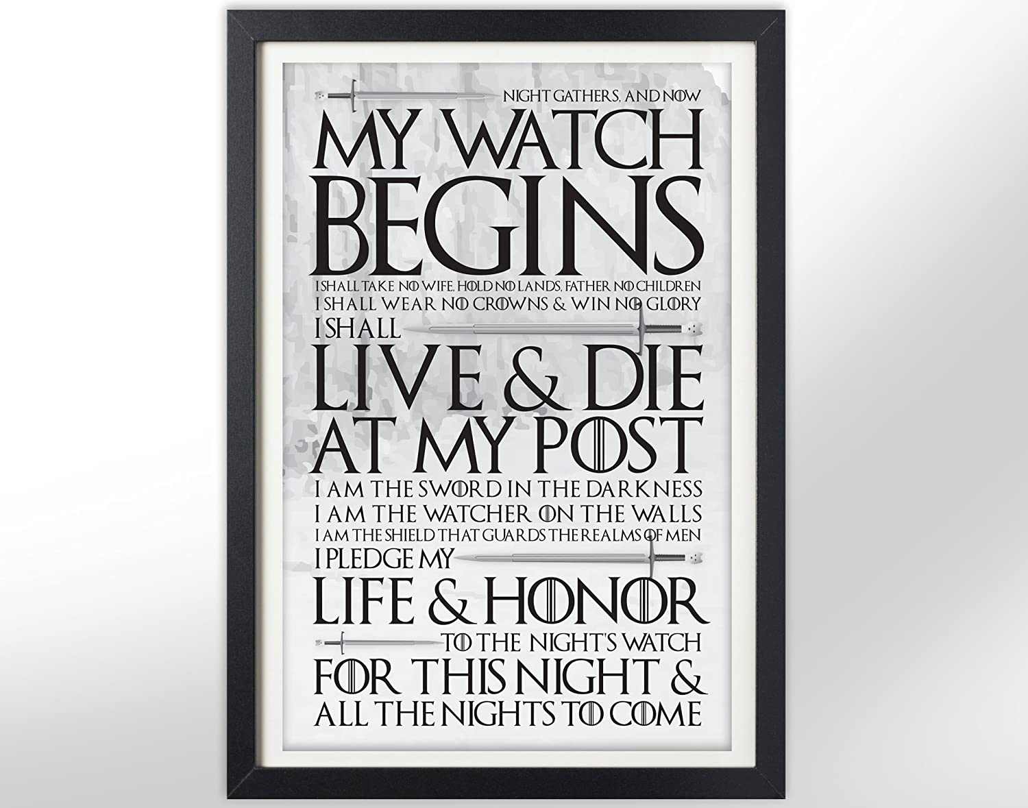 Game of Thrones Night's Watch Oath Poster