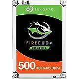 Seagate FireCuda Gaming SSHD - Unidad híbrida Interna de Estado sólido (500 GB, 2,5 Pulgadas, para PC y PS4 (Modelo: ST500LXZ25/LX025)