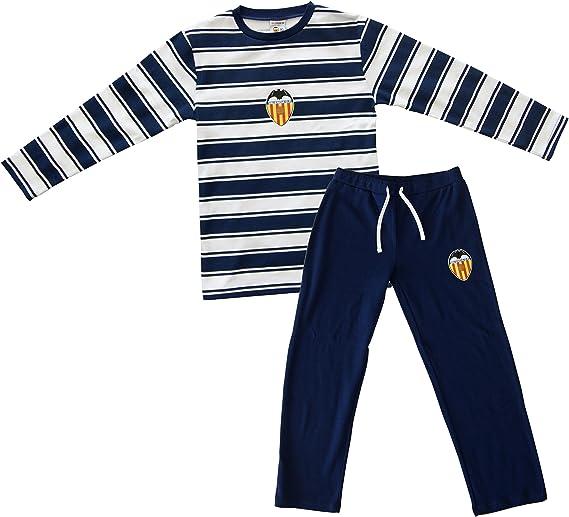 Valencia CF Pijvcf Pijama, Bebé-Niños, Multicolor (Blanco/Azul), L: Amazon.es: Deportes y aire libre