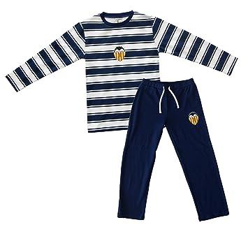 Valencia CF Pijvcf Pijama, Bebé-Niños, Multicolor (Blanco/Azul),