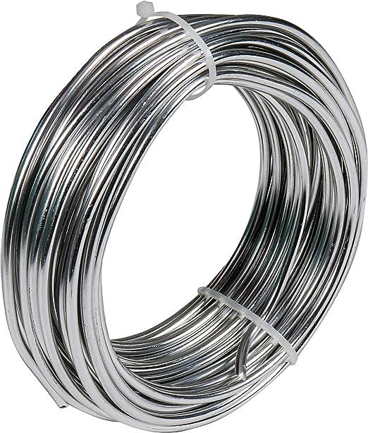 BELLE VOUS Aluminium Draht Silber zum Basteln, 3 mm dick, 10m lang Aluminiumdraht Rollen, Biegedraht Aludraht Basteldraht Schmuckdraht für Schmuck,