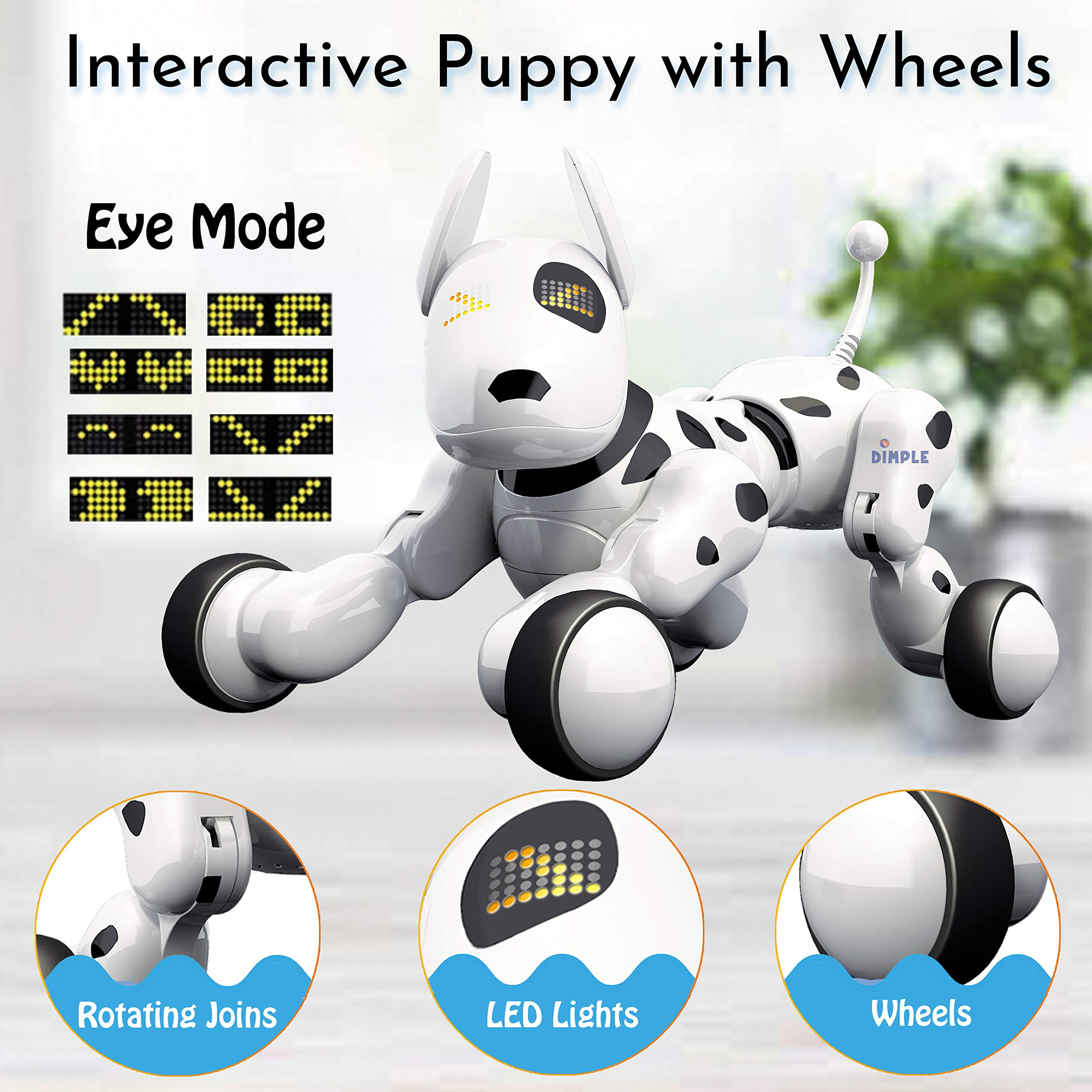 Dimple Interactive Robot Puppy With Wireless Remote Control RC Animal Dog Toy That Sings, Dances, Eye Mode, Speaks for Boys/Girls, Perfect Gift for Kids. by Dimple (Image #9)