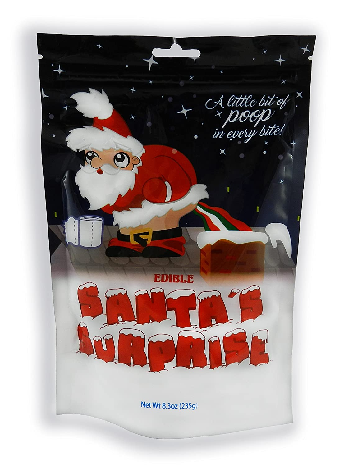 Amazon Com Santas Surprise Stocking Stuffer Poop Candy Christmas Jelly Beans  2 Lb Lump Of Coal Alternative Naughty Or Nice Christmas Gag