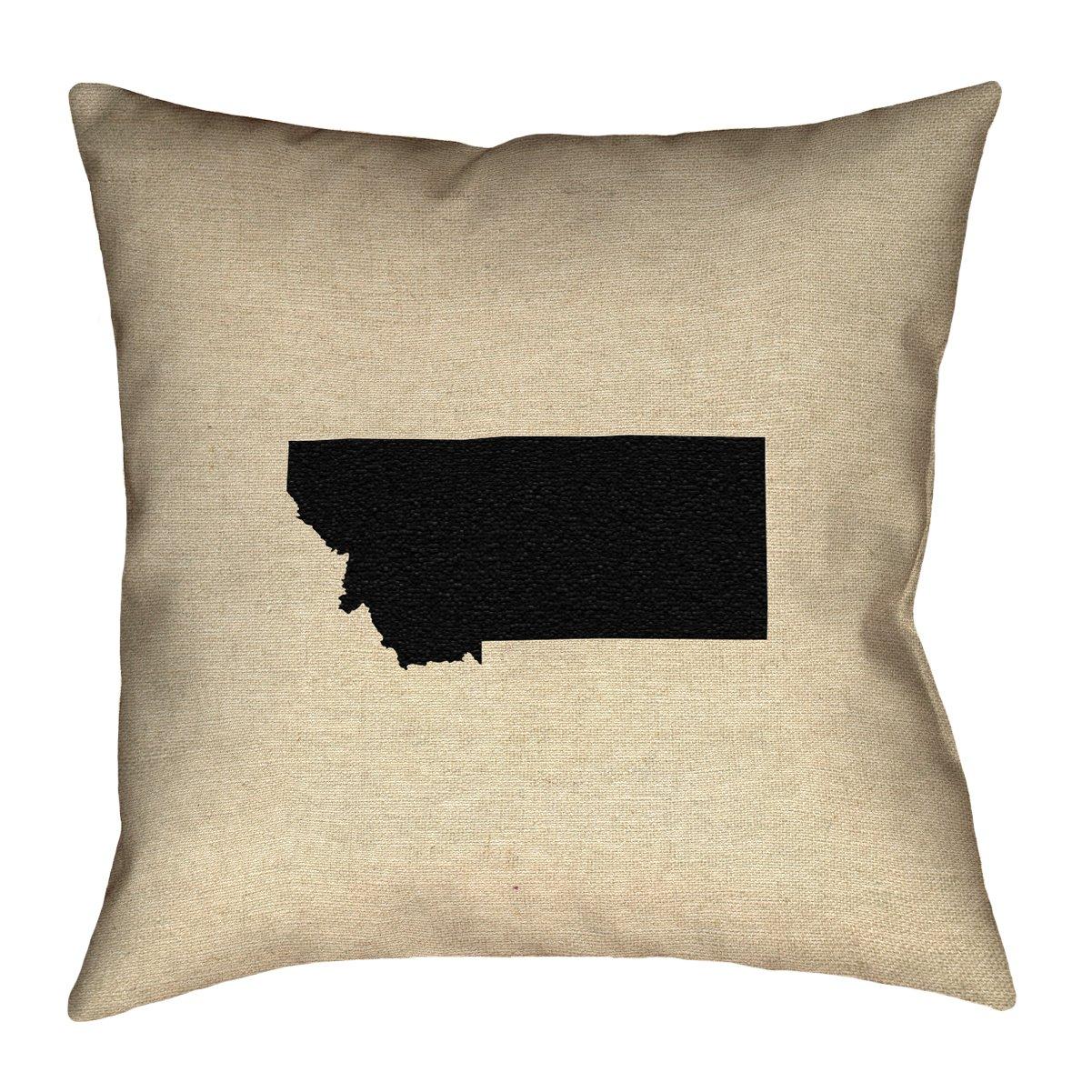 ArtVerse Katelyn Smith 16 x 16 Indoor//Outdoor UV Properties-Waterproof and Mildew Proof Montana Pillow
