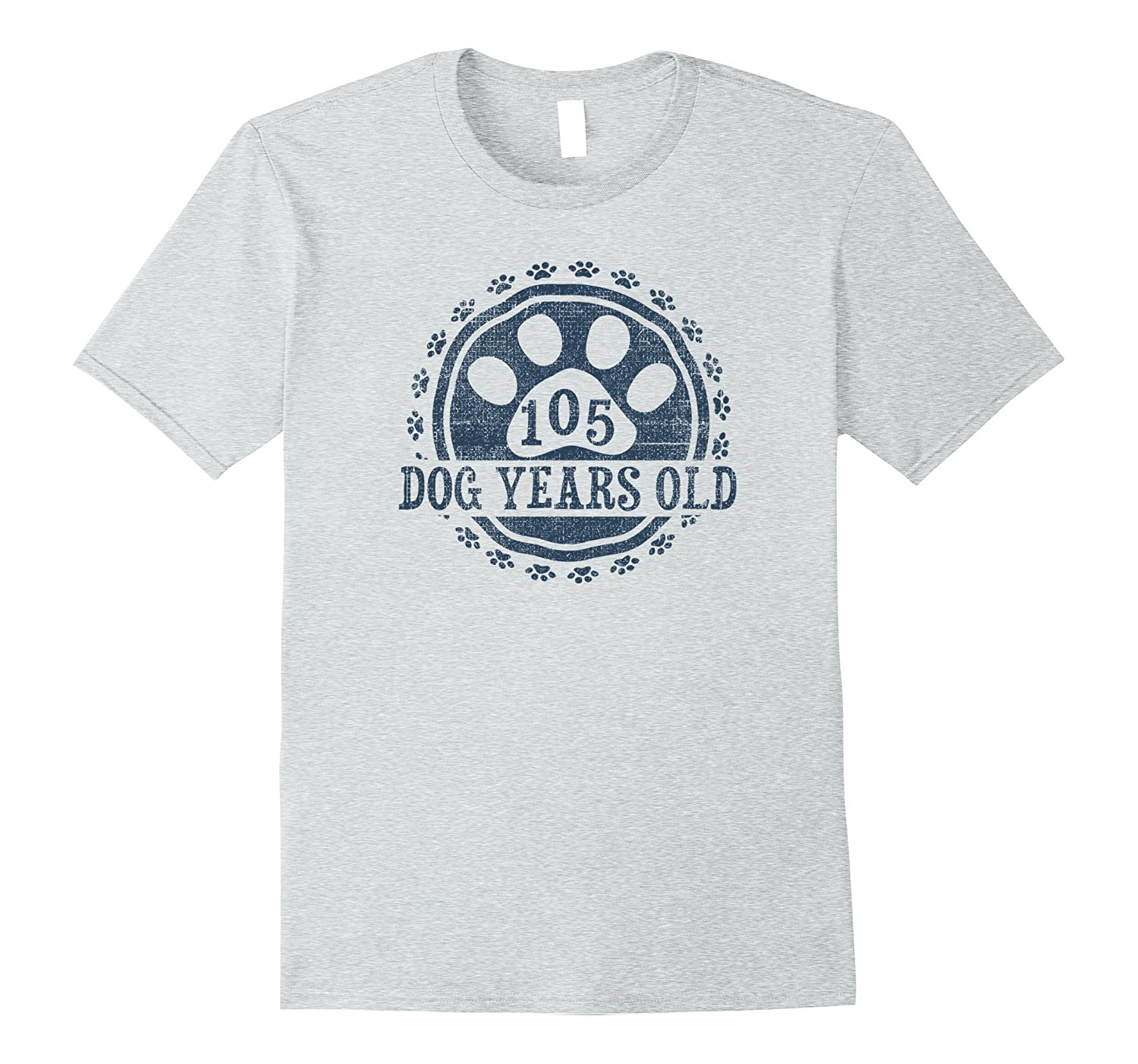 105 Dog Years Old 15 Human Yrs Old 15th Birthday Gift Shirt-AZP