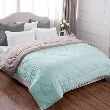 Amazon.com: Full/Queen Reversible Comforter Duvet Insert with Corner ...