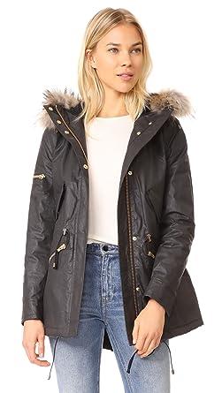 338ea4e2461 SAM. Women's Mini Hudson Parka Jacket - Black -: Amazon.co.uk: Clothing