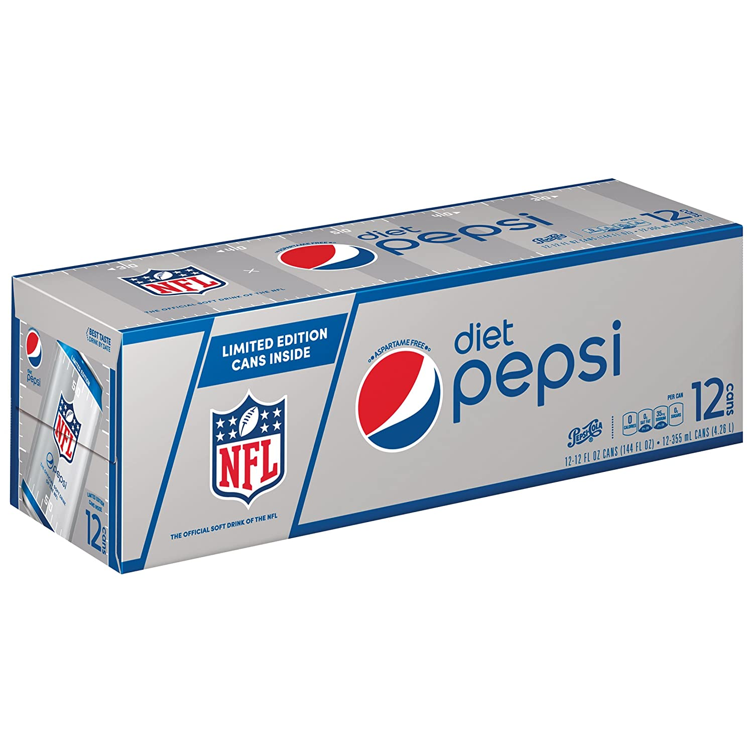 Amazon.com : Diet Pepsi Cola, 12 ct, 12 oz Cans (Packaging May Vary ...