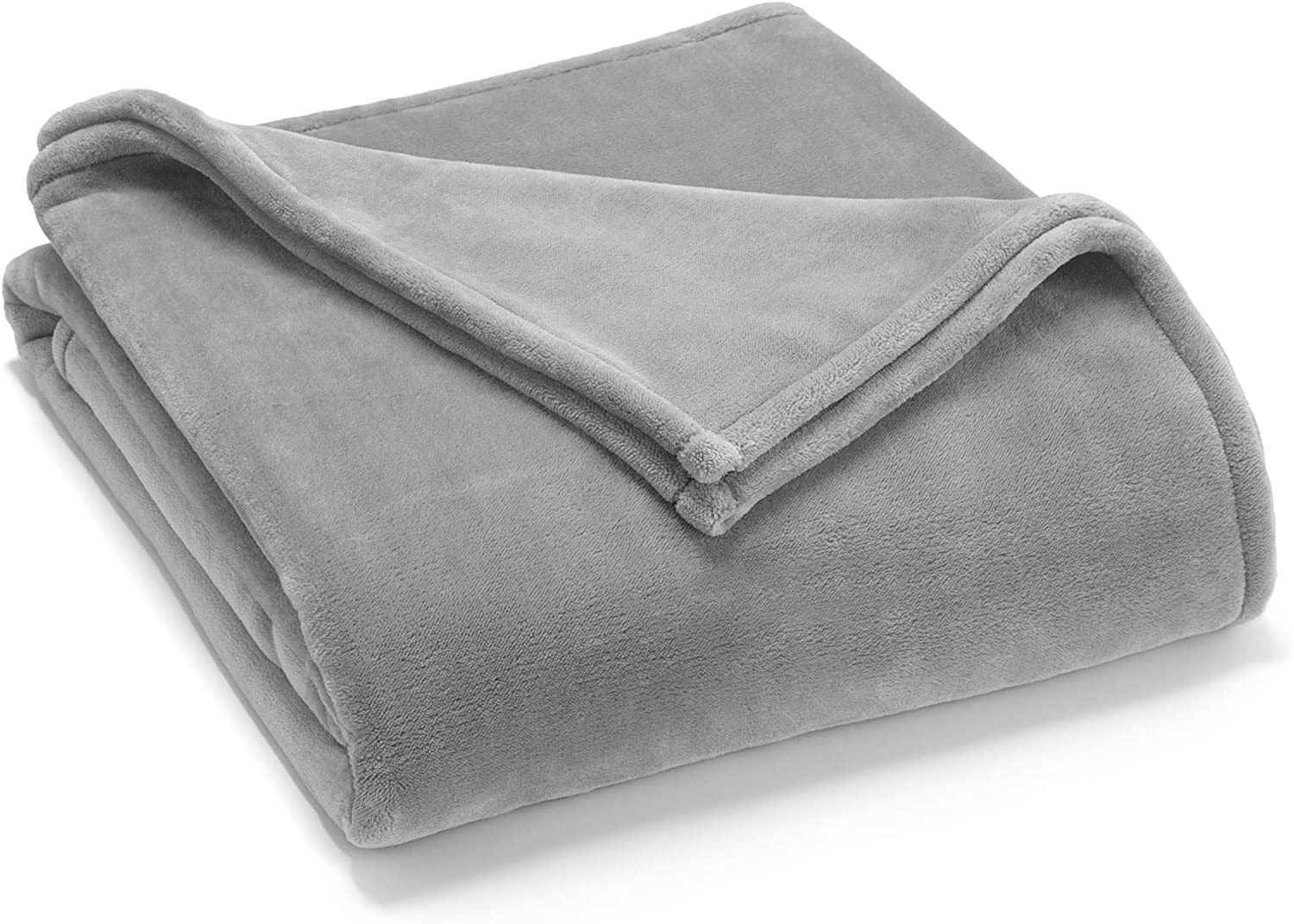 Vellux Sheared Mink Luxury Blanket- Super Soft and Cozy, Warm, Fluffy and Fuzzy, King, Light Gray
