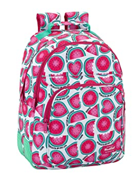 "Safta Mochila Escolar Blackfit8 ""Watermelon"" Oficial 320x150x420mm"