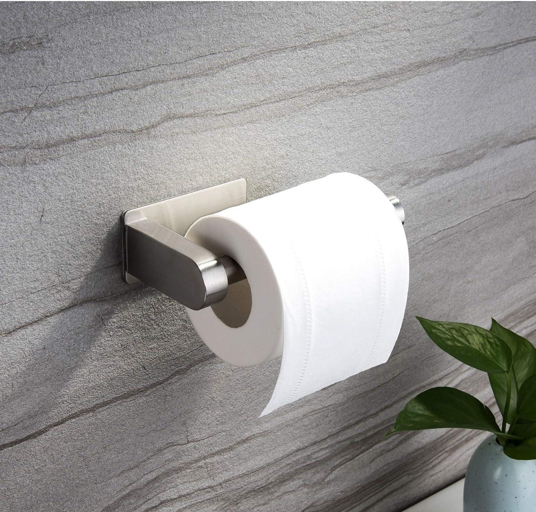 Zunto senza foratura supporto di carta da parete per carta igienica in acciaio inox Porta carta igienica autoadesivo