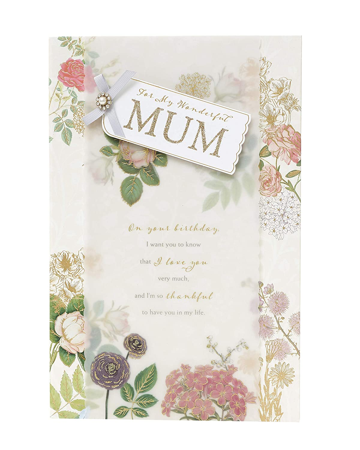 Gift Card for Mum Gifts for Her Card for Amazing Mum Sentimental Mum Card with Lovely Verse Mum Birthday Card