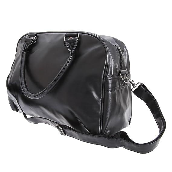 Bagbase - Bolsa deportiva estilo Bowling retro (Talla Única/Blanco/Negro): Amazon.es: Ropa y accesorios